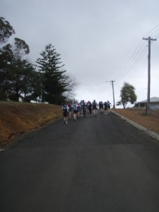 long uphill at the start