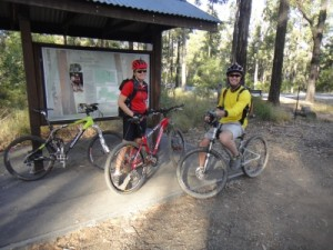 at the start of one of the trails