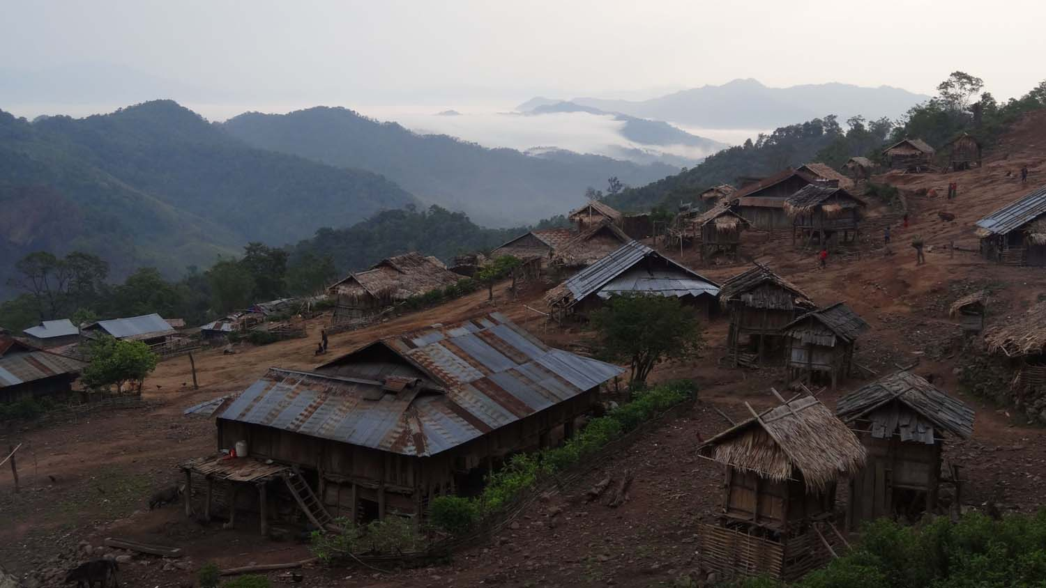 'our' Akha village. No roads and no electricity.
