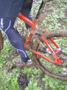 we collect a bit of mud on the ride