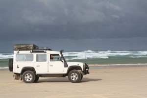 lots of beach driving on Fraser Island