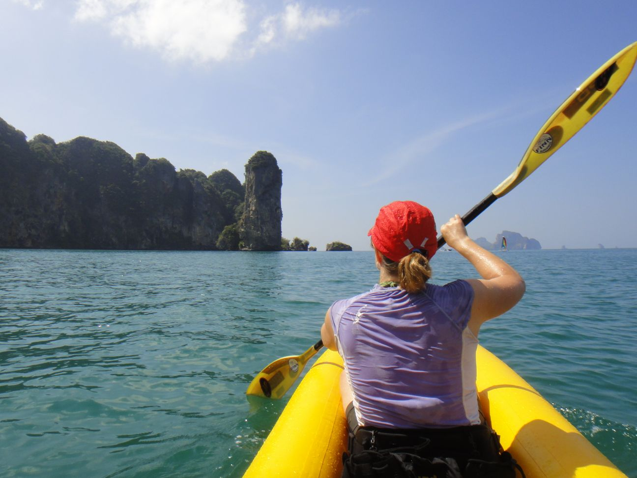 kayaking to Ralai Beach