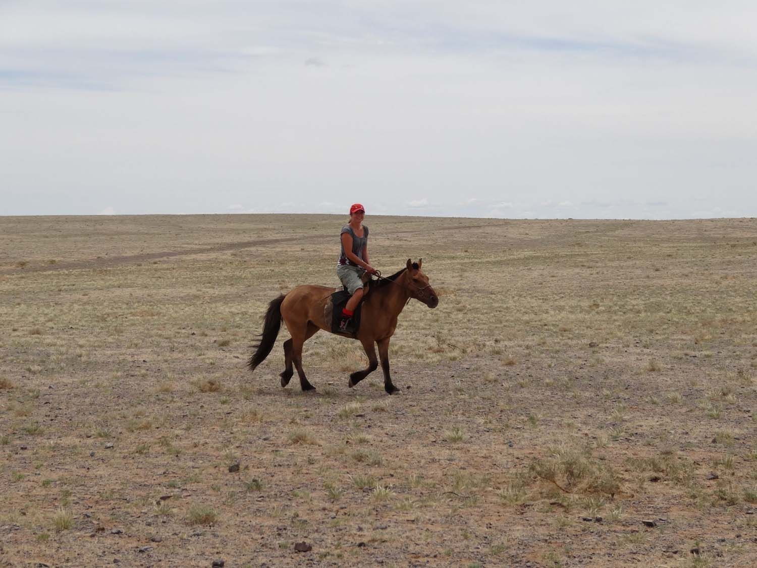 my first ride in Mongolia