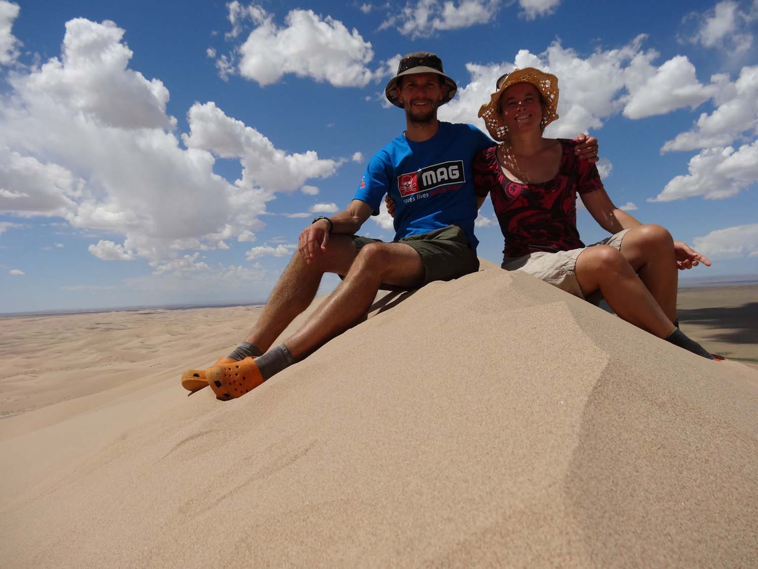 stunning views are our reward after a slow hike to the top of the biggest sand dune