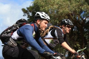 Jon and Pete on the bike