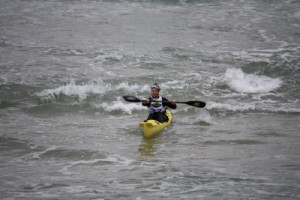 Jon coming back in from a paddle