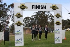 team Woop Woop across the line