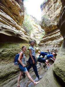 Sandra, Peter, Jessie, Niels & Jens in the gorge of Hell's Gate National Park