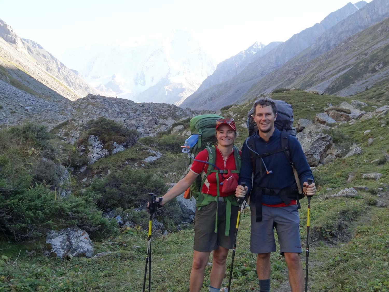 first glimpses of peak Karakol