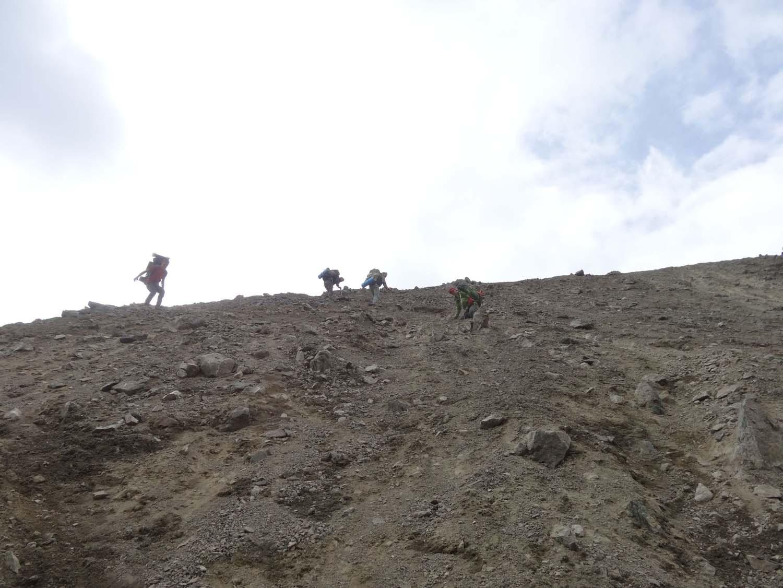 very, very steep - scary