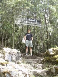 hiking up Mt Wellington