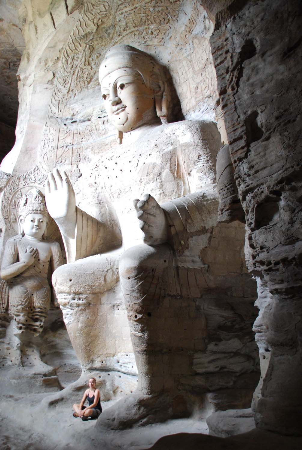 these ones were carved inside a cave, beautiful