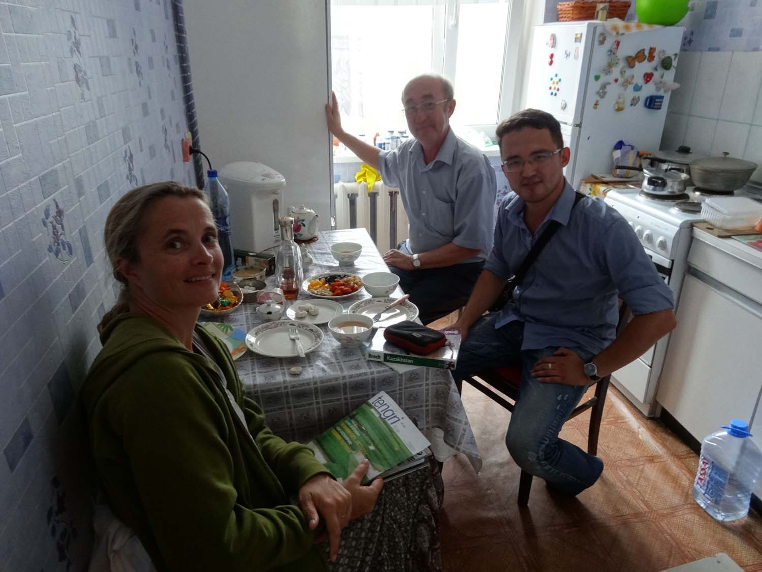 Kazakh hospitality - a cuppa with delicious nibbles