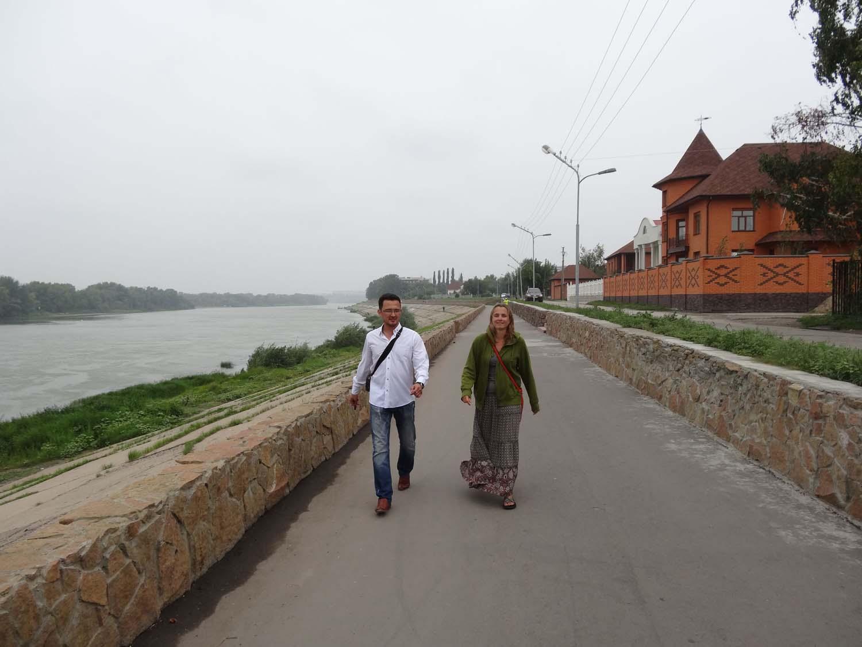 a stroll on Pavlodar's boulevard