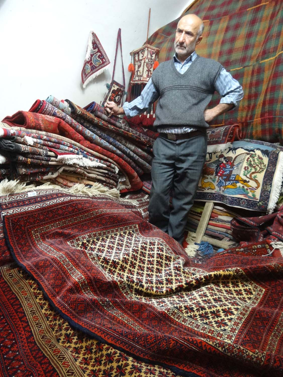 the carpet salesman shows his stuff