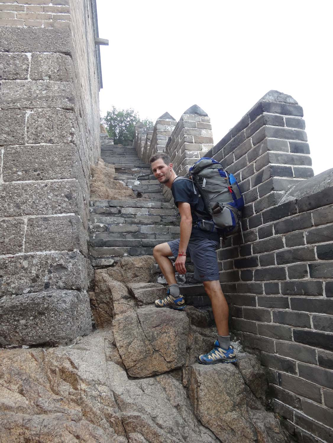 Every step is different on the Great Wall.