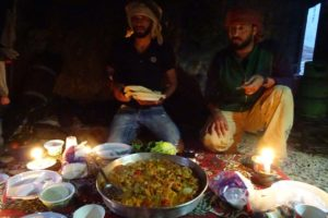 the most amazing dinner ever inside an ancient cave from Jamal's family