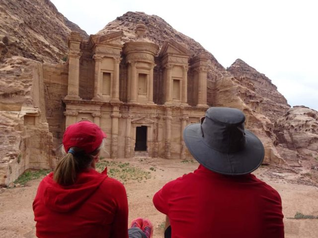 Hiking with a baby to Petra