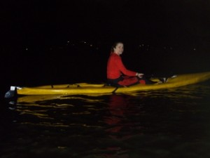 Jude on the night paddle