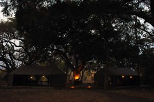 the very comfortable dining area and living space of Chada lodge in Katavi NP