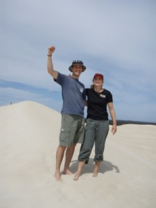 Jon and Jude in the sand dunes