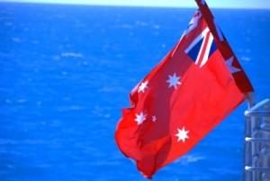 the Australian maritime flag