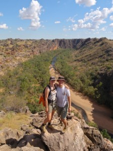 looking back over Windjana Gorge