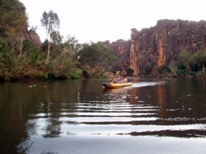 kayaking in Windjana Gorge