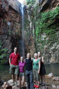 Jon, Jude, Marcus, Karlie and Mel at Emma Gorge