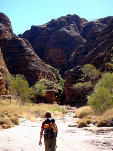 Jon hiking in the Purnululu NP