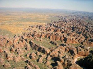 areal view of the beehives in Purnululu NP