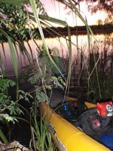 starting our overnight paddle on the Ord River - perfectly safe here for paddling...