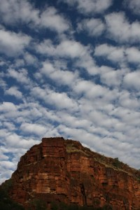 love these clouds above Red Gorge in Karijini