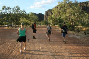 going for a walk into Windjana Gorge