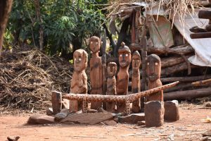 a waga, wooden grave markers from the Konso people
