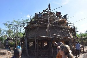 building of a new mora in a Konso village