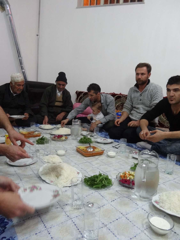 soon we were eating dinner in their home