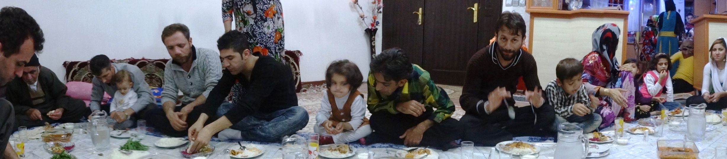 name of place? - sharing a fantastic meal with this Kurdish family