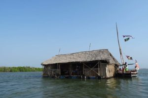 in between Manda and Lamu Island is a floating bar where we popped in for a quick drink, looking at the fish and enjoying the views
