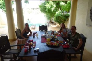 great breakfast prepared by Mwembe, our excellent chef