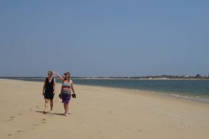 Jude and Helen on Lamu beach