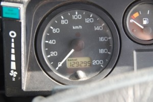 the odometer at the start