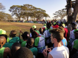 the start line, Kenyans at the front, mzungus (white people) at the back
