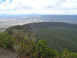 view of the crater of Mt Longonot