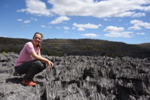 Jude overlooking the tsingy