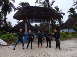 James, Helen, Jude, our dive leader Rama and Rachael