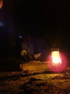local musician on Chole Island playing a traditional marimba