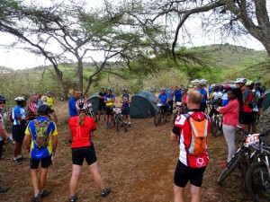 race briefing at the Malepo Hills RVO - our first RVO