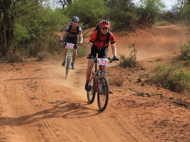 Riding with the Kenyans