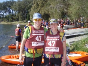 Marcus & Jude ready to race!